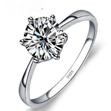 Load image into Gallery viewer, Cubic Zirconia Silver Diamond Wedding Ring