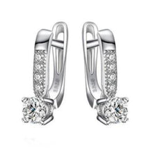 Load image into Gallery viewer, 925 Sterling Silver Earrings With Cubic Zirconia Stone