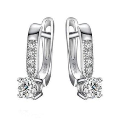 925 Sterling Silver Earrings With Cubic Zirconia Stone