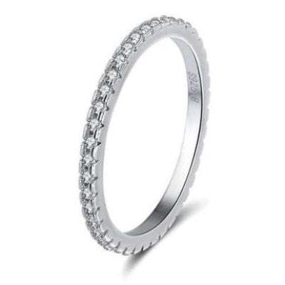 Classic Round Cubic Zircon Engagement Wedding Band Ring