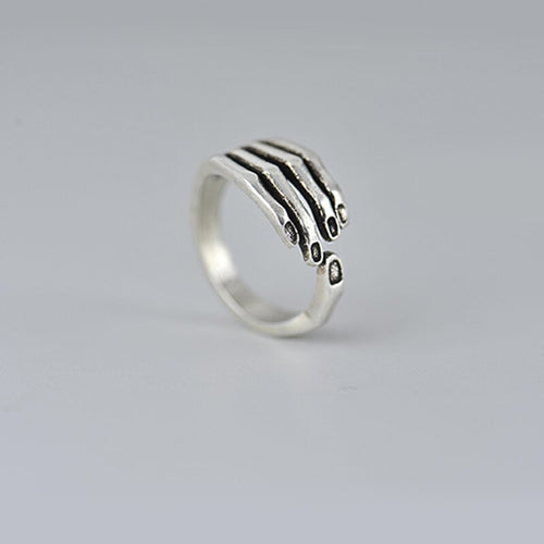 925 Sterling Silver Open Adjustable Ring