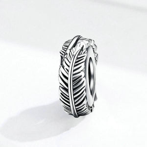 Feather Spacer Charm