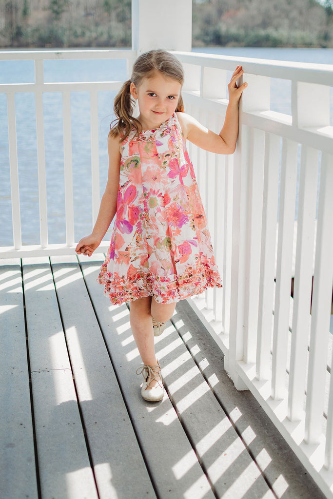 Isobella & Chloe Kiwi Twist Floral Dress