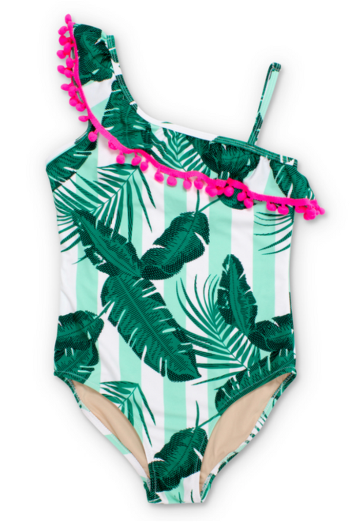 Shade Critters Ruffle Botanical Swimsuit