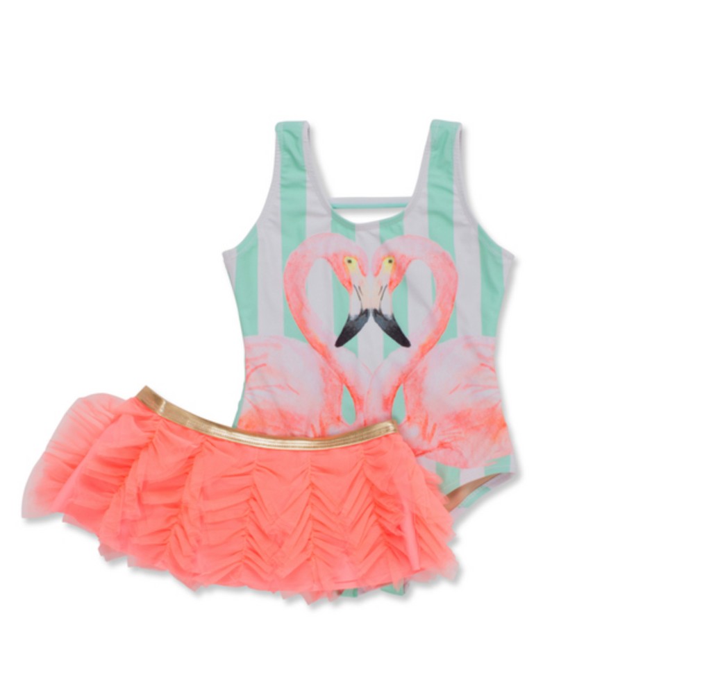 Shade Critters Flamingo Swimsuit & Skirt