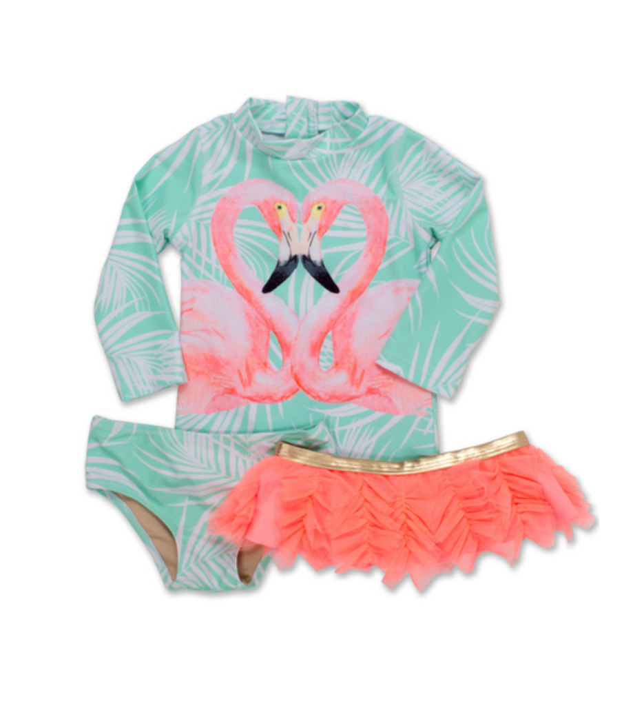 Shade Critters Flamingo Rash Guard Set