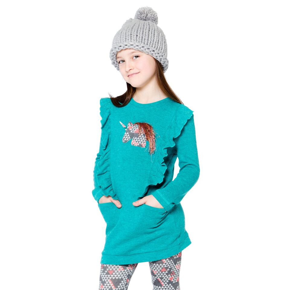 Deux par deux Teal Unicorn Tunic