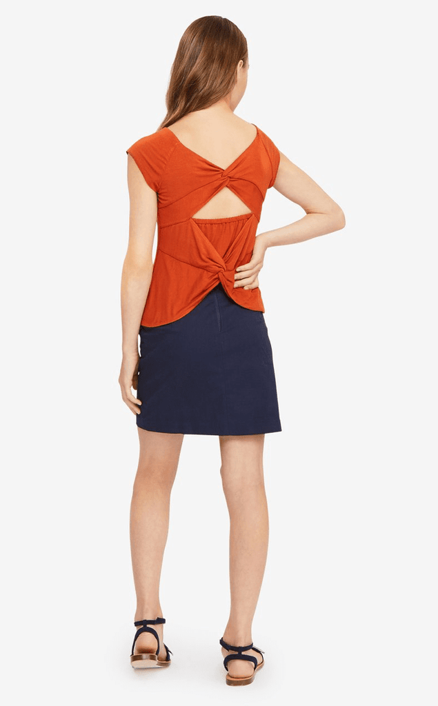 Habitual Gianna Rust Knot Top