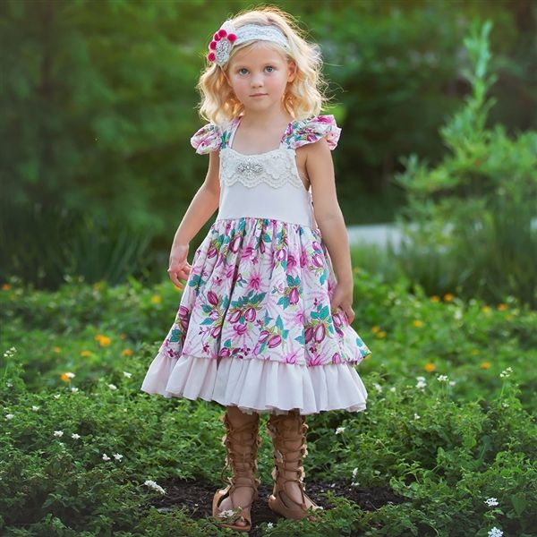 Frilly Frocks Nora Floral Dress PREORDER