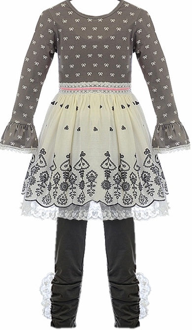 2605c93467817 Haute Baby Winter Pearl French Lace Dress and Legging Set *FINAL SALE* SOLD  OUT