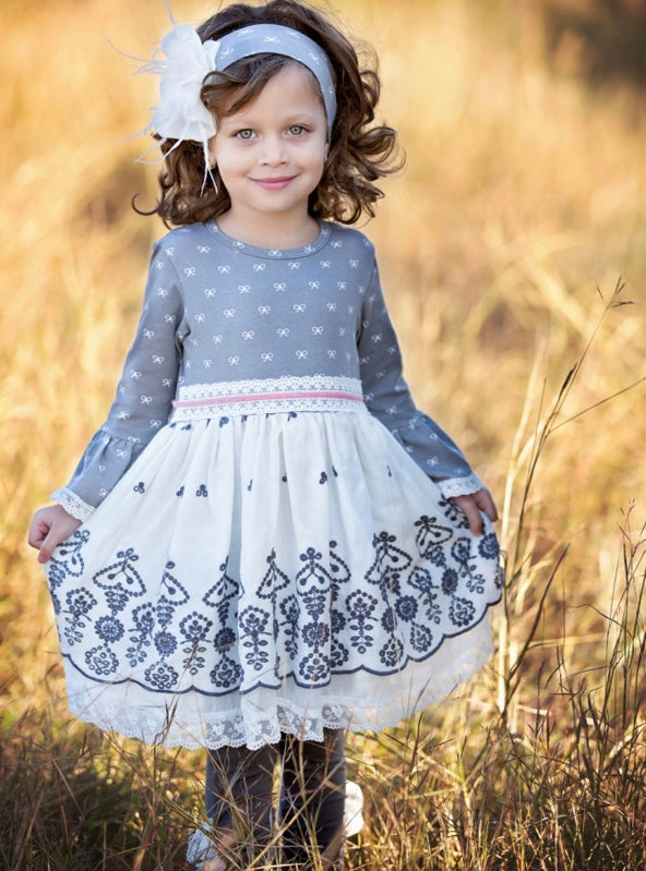 Haute Baby Winter Pearl French Lace Dress and Legging Set *FINAL SALE* SOLD OUT