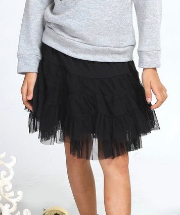 Haven Girl Black KNIT Skort