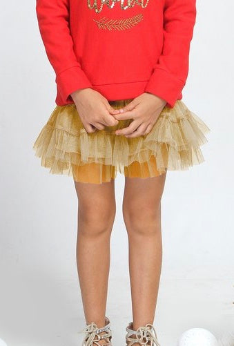 Haven Girl Gold Skort