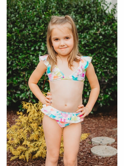 Kate Mack Ice Cream Social Ruffle Bikini