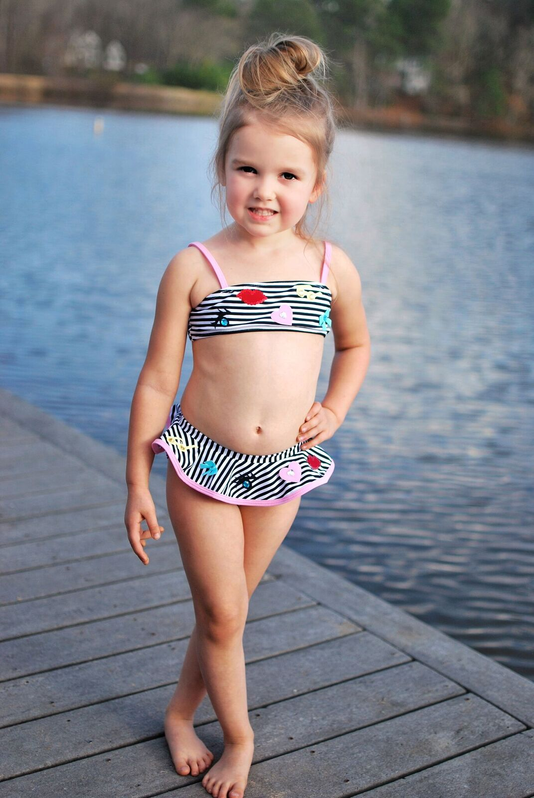 6bd9581d7b8ba Kate Mack Stripe Skirted Bikini | Adorables Children's Boutique