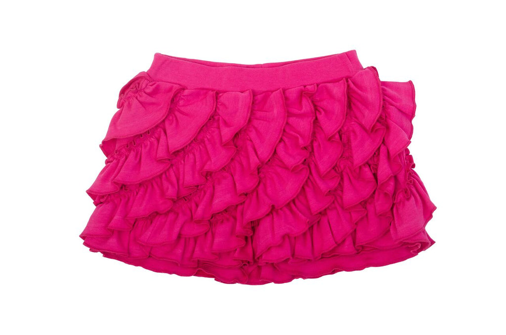 Lemon Loves Lime Fuchsia Purple Ruffle SHORT