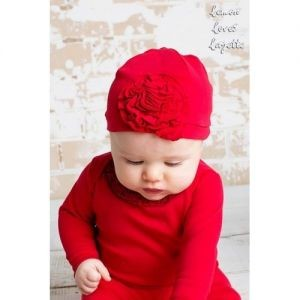 Lemon Loves Lime Red Bijou Hat SIZE O/S
