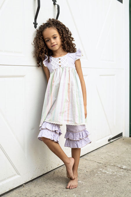 Little Prim Lavender Adelaide Dress