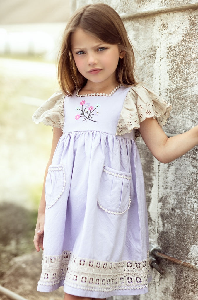 Little Prim Lavender Astrid Dress
