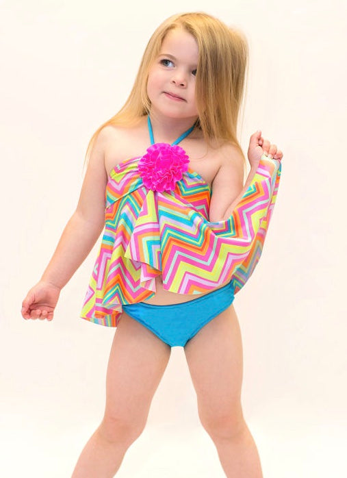 Love U Lots Colorful Tankini SIZE 5