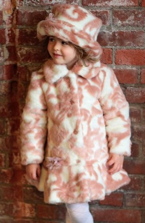 Mack & Co. Pink Damask Coat SIZE 14