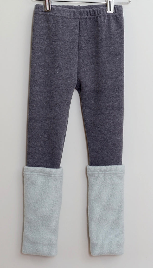 Mae Li Rose Gray & Jade Leg Warmer Legging *FINAL SALE* SIZE 3T