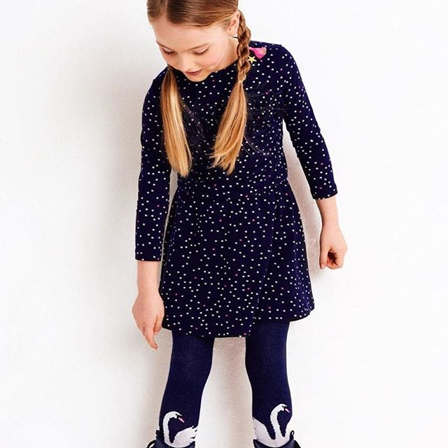 Mim Pi Navy Confetti Dot Dress SIZE 10