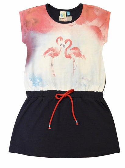 Noruk Dust Steel Flamingo Dress SIZE 6