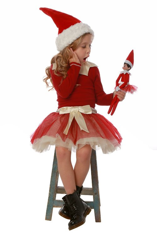 Ooh La La Couture Red Elf On a Shelf Dress