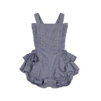 Paper Wings Chambray Frilled Romper