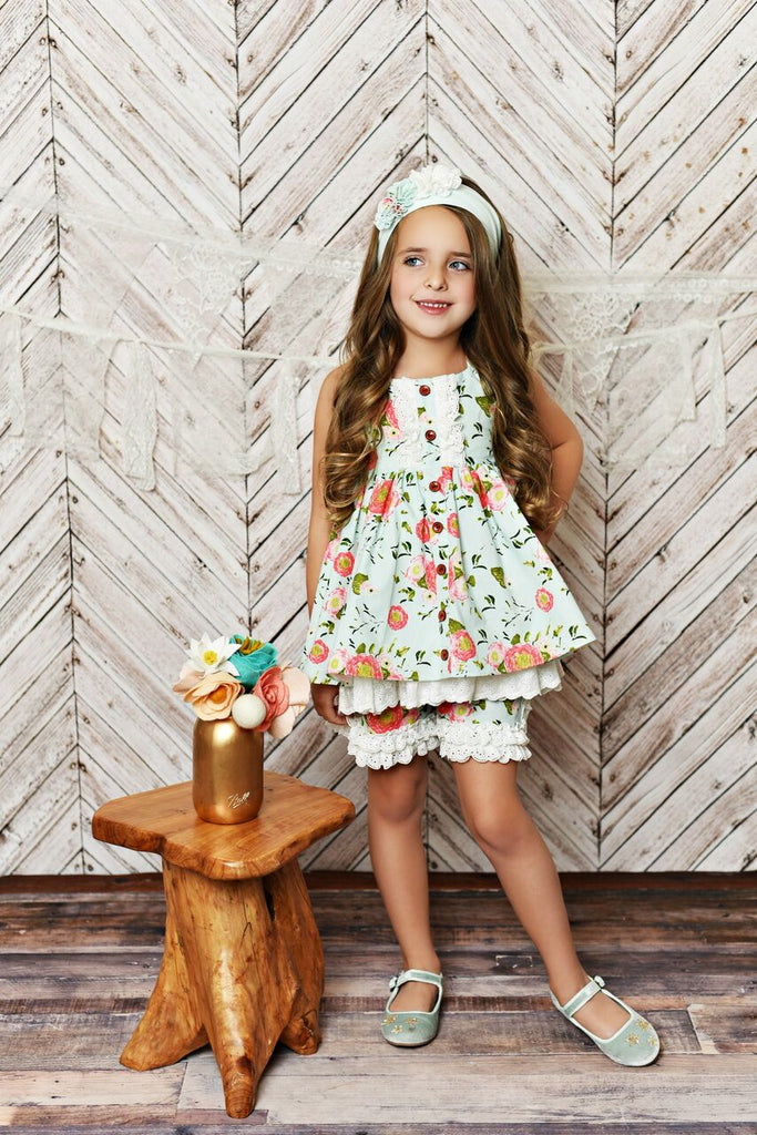 Serendipity Dress with Eyelet Shorties & Head Band