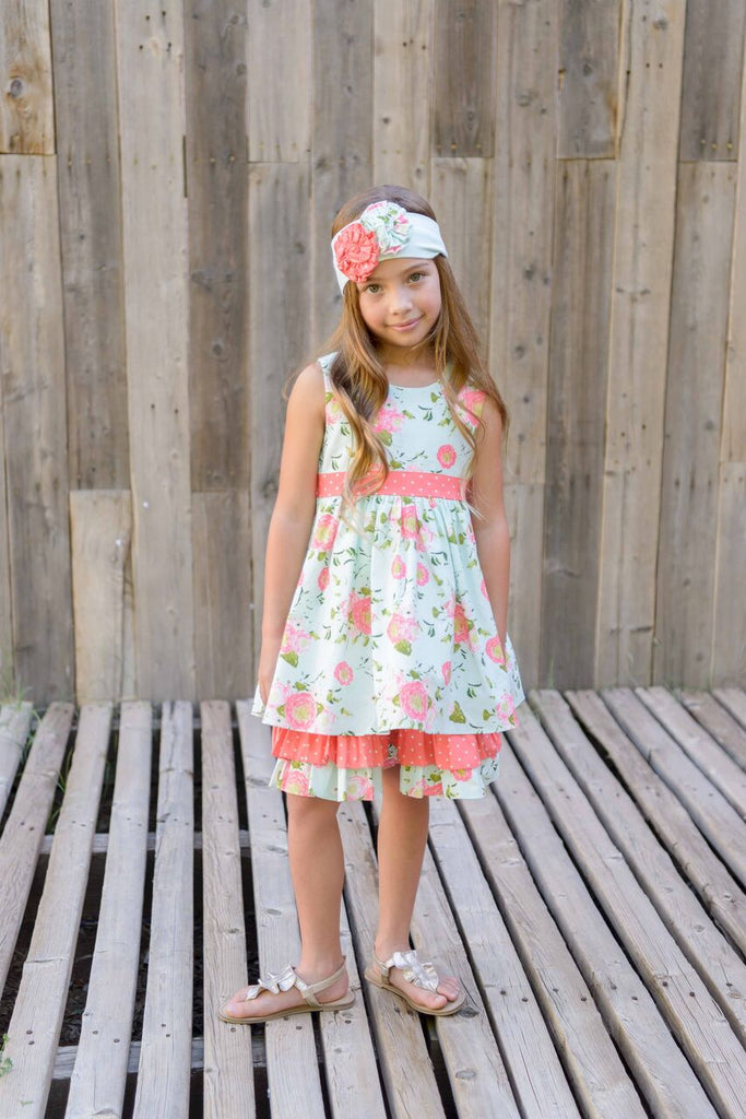 Serendipity Coral Vine Party Dress