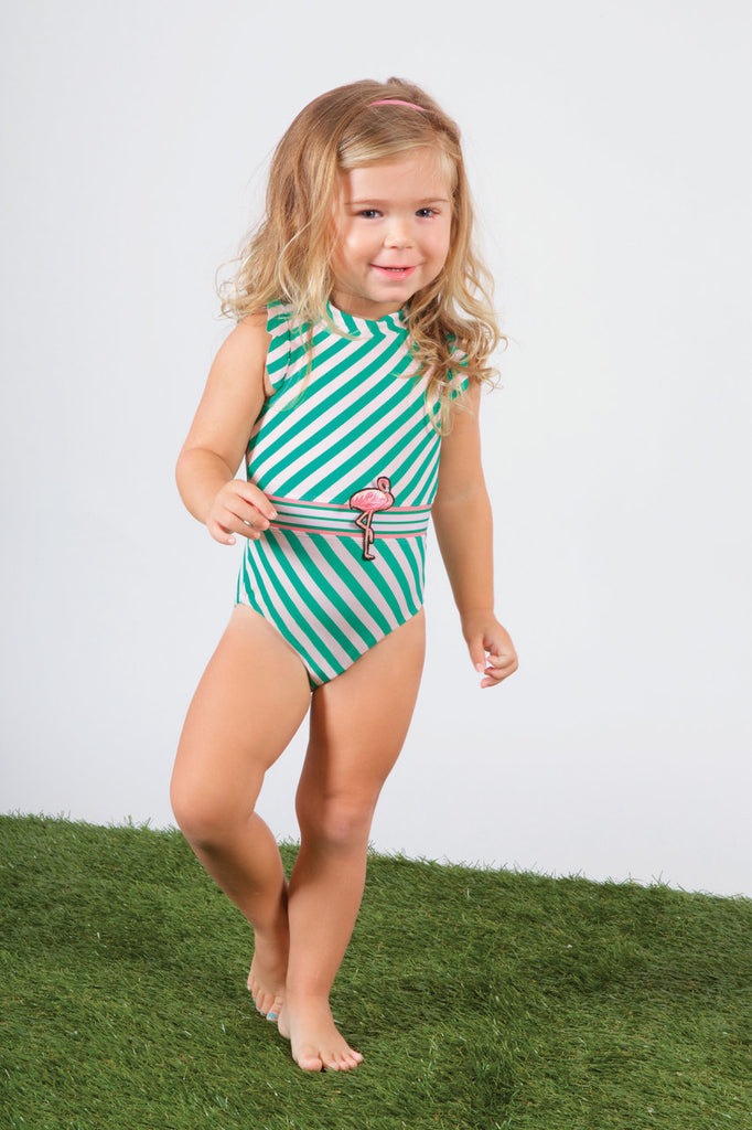 Shade Critters Ruffle Flamingo Swimsuit
