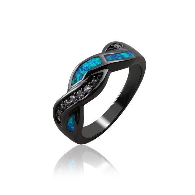 45354770c0 Ocean Blue Fire Opal Ring – Cool Products Outlet