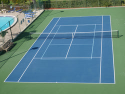 Play pickleball on a tennis court