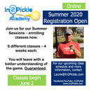 In2Pickle Academy Online Classes Summer 2020