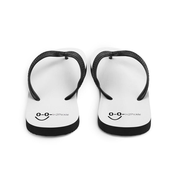 Flip-Flops with In2Pickle Pickleball Smile Design