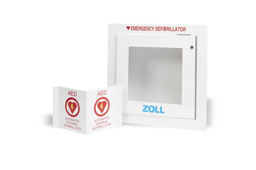 AED Wall Cabinet, Flush, for ZOLL AEDs