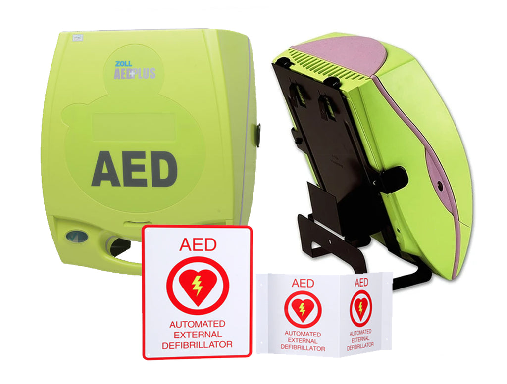 ZOLL AED Plus® Semi-Automatic Complete Promo Package (Bracket)