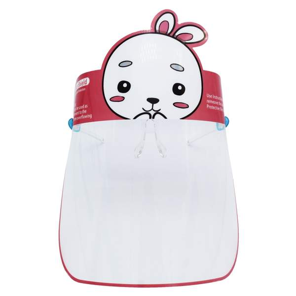 rabbit face shield for kids