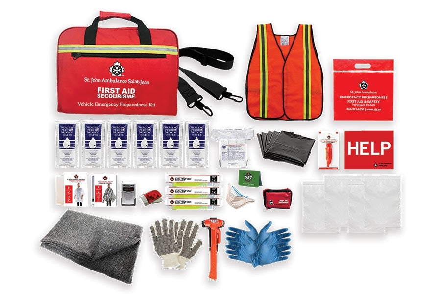 Emergency Preparedness Deluxe Vehicle Kit - EA