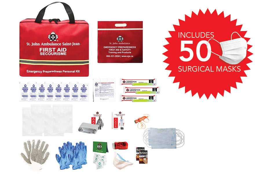 Emergency Preparedness Personal Kit (with 50 surgical face masks)