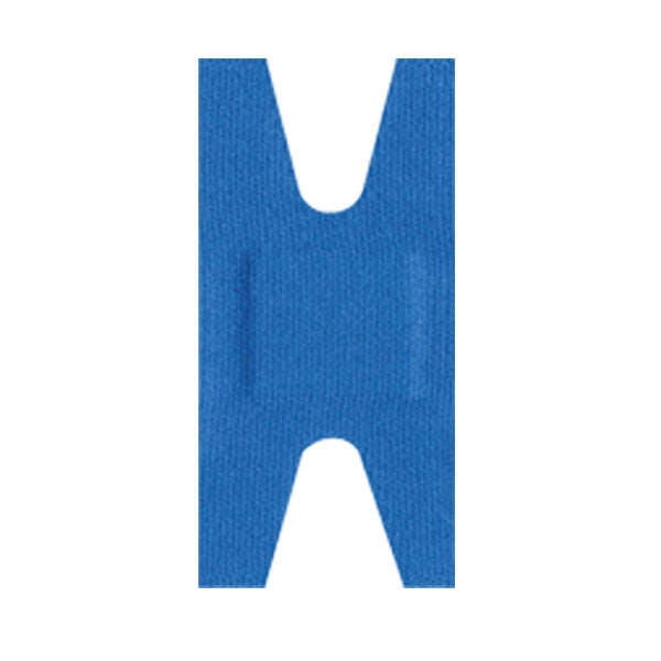 "Adhesive Metal Detectable Blue Fabric Bandage, Knuckle (1.5"" x 3"") - 50/ Pack"