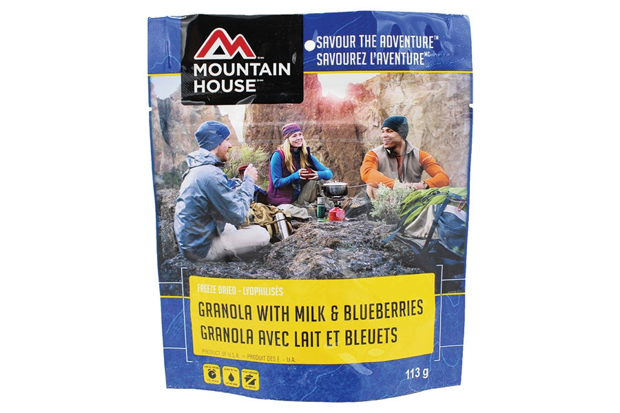 Mountain House Granola With Milk & Blueberries