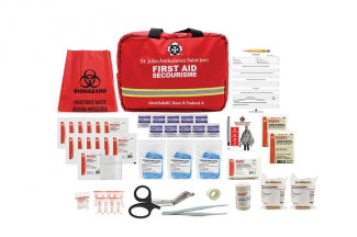 WorkSafeBC Basic/ Federal Level A Kit, 2020 Compliant, Soft Bag - EA