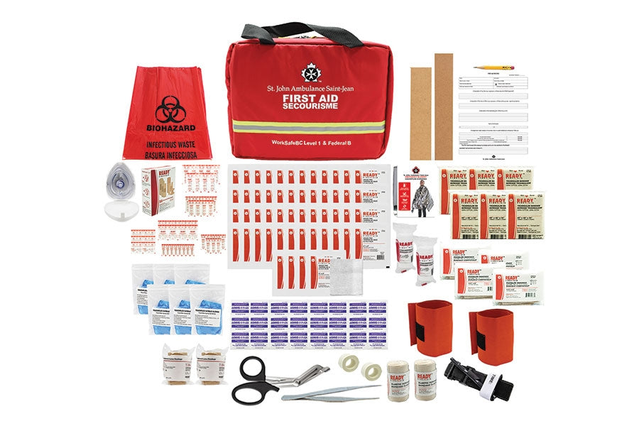 WorkSafeBC Level 1/ Federal Level B Kit, 2020 Compliant, Soft Bag - EA
