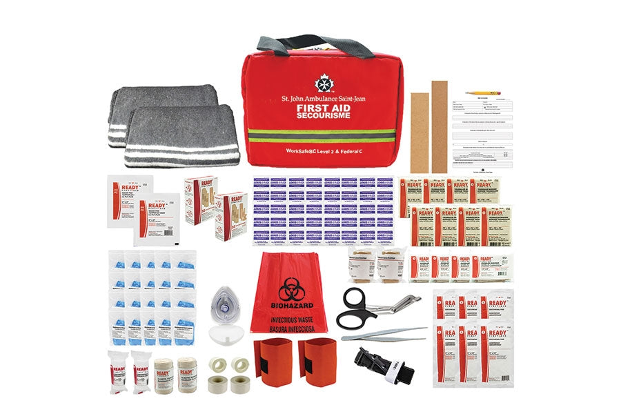 WorkSafeBC Level 2/Federal Level C Kit, 2020 Compliant, Padded Case - EA