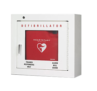 Philips AED Cabinet, Basic Surface Mounted - Biligual (English & French) - EA