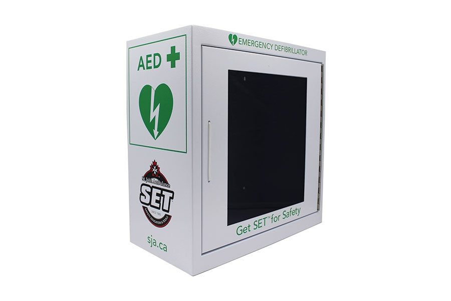 AED Wall Cabinet, SJA Brand (White)