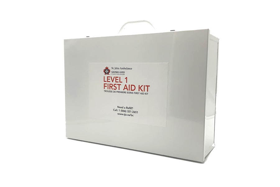WorkSafeBC Level 1/ Federal Level B Kit, New Guideline, Metal Case - EA